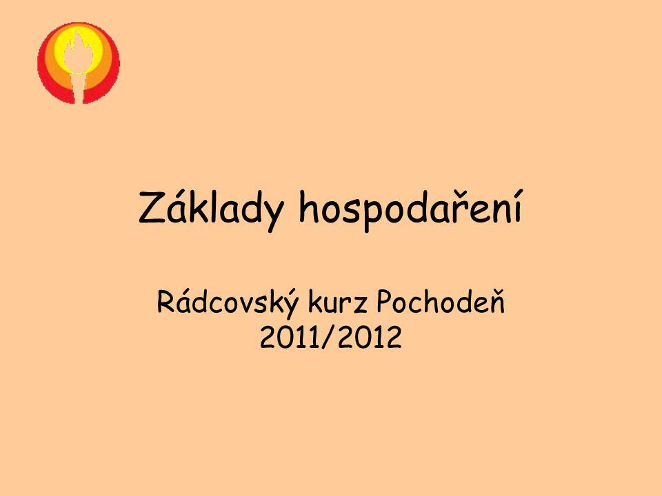 Základy hospodaření Rádcovský kurz Pochodeň 2011/2012