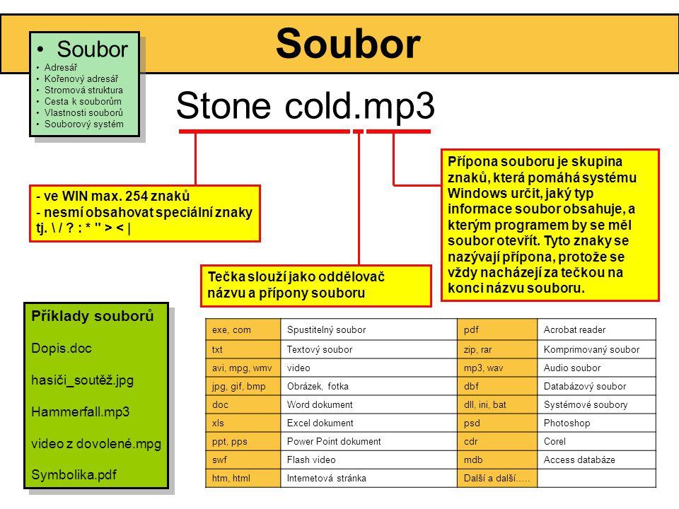 Soubor Stone cold.mp3 - ve WIN max.254 znaků - nesmí obsahovat speciální znaky tj.