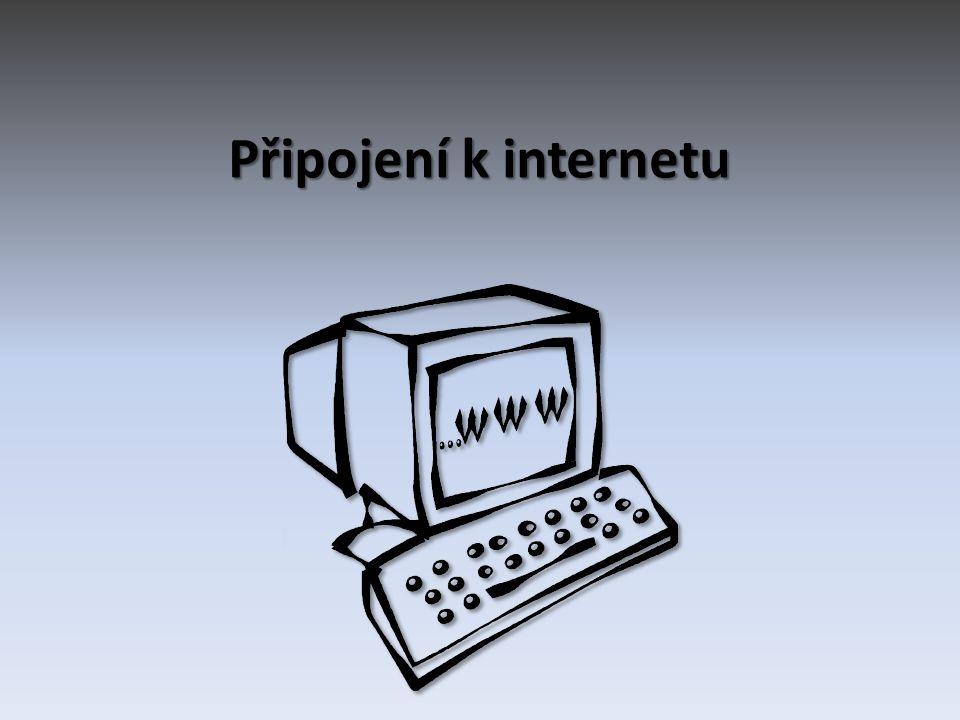 Základní rozdělení Telefonní linka (pevná linka) • Telefonní linka (pevná linka) komutovaná linka DSL Bezdrátová datová síť • Bezdrátová datová síť satelitní síť Wi-Fi Mobilní telefon • Mobilní telefonGPRS A další… • A další…