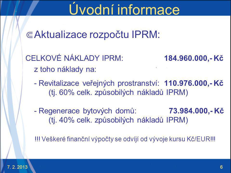 7.2. 201317 Výzva města Strakonice !!!POZOR!!. Platí princip předfinancování!!.