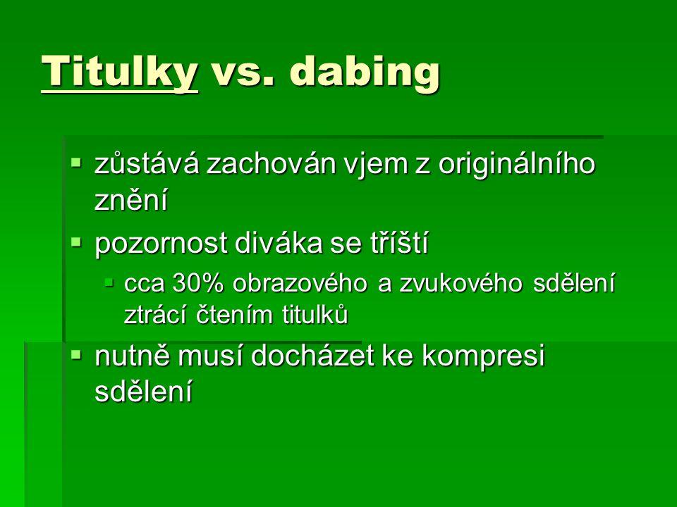 Titulky vs.