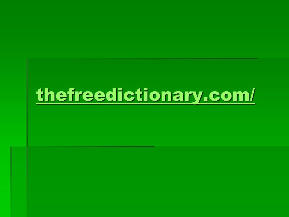 thefreedictionary.com/