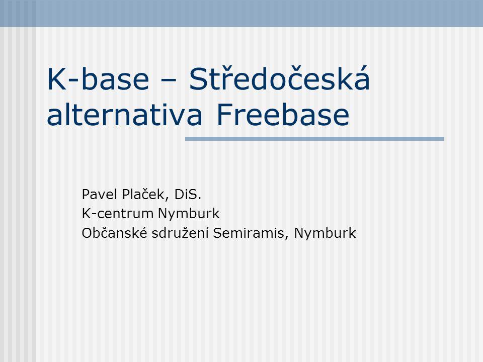 K-base – Středočeská alternativa Freebase Pavel Plaček, DiS. K-centrum Nymburk Občanské sdružení Semiramis, Nymburk
