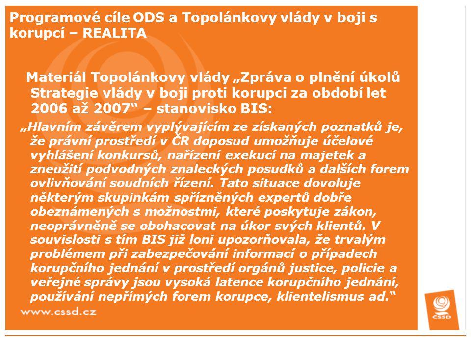 MODRÁ ŠANCE ODS pro korupci