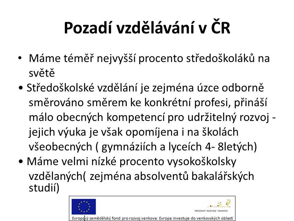 Atmosféra vzdělávání v ČR • Ve školách se prolínají dva hlavní problémy • Věcný: Velice málo se učí obecně využitelné procesní kompetence ….