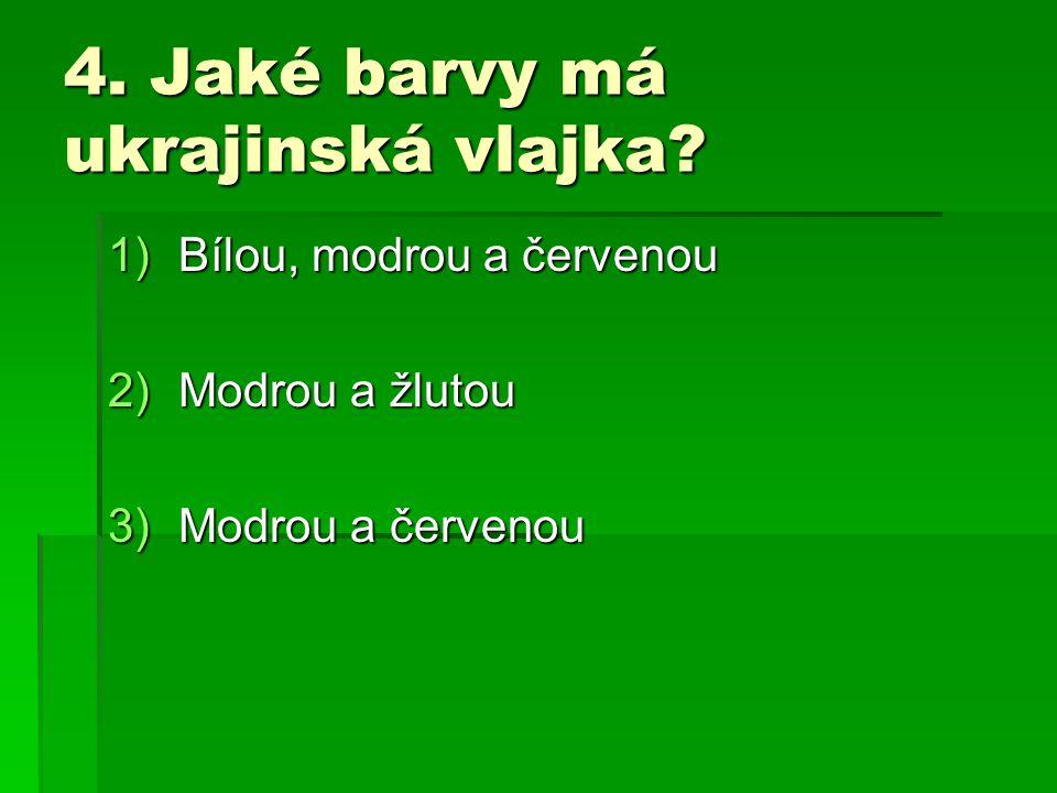 5. Jak se jmenuje poloostrov na jihu Ukrajiny? 1)Krym 2)Tajmyr 3)Balkánský