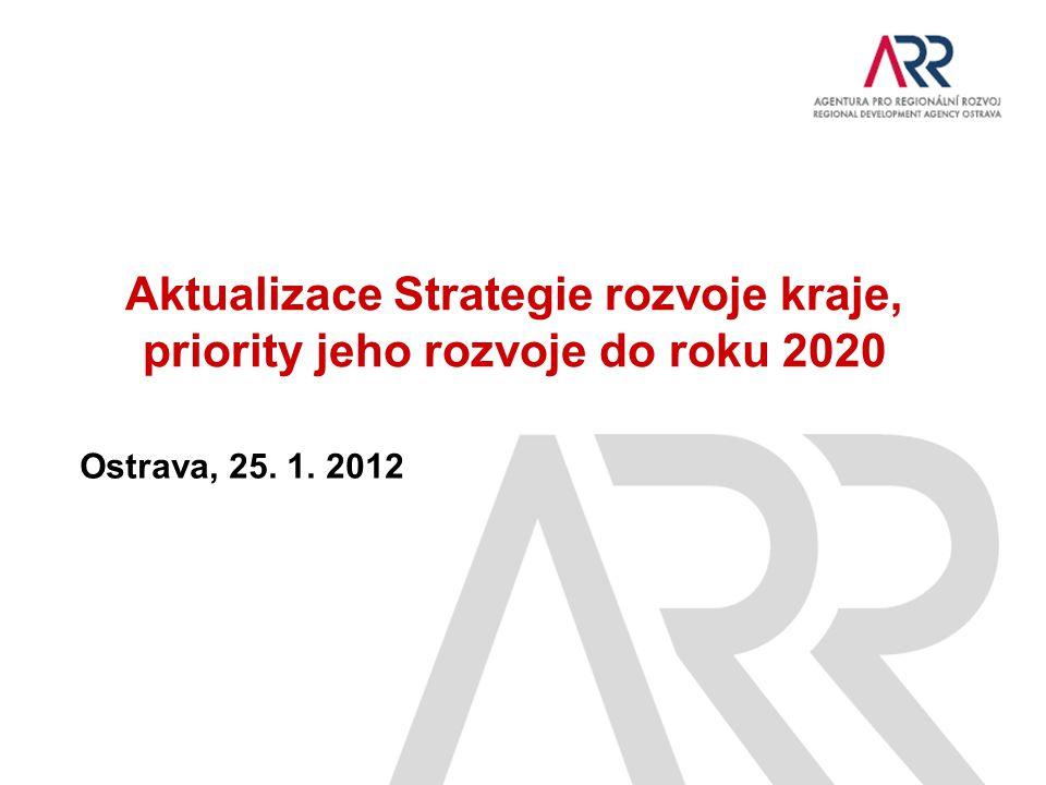 Aktualizace Strategie rozvoje kraje, priority jeho rozvoje do roku 2020 Ostrava, 25. 1. 2012