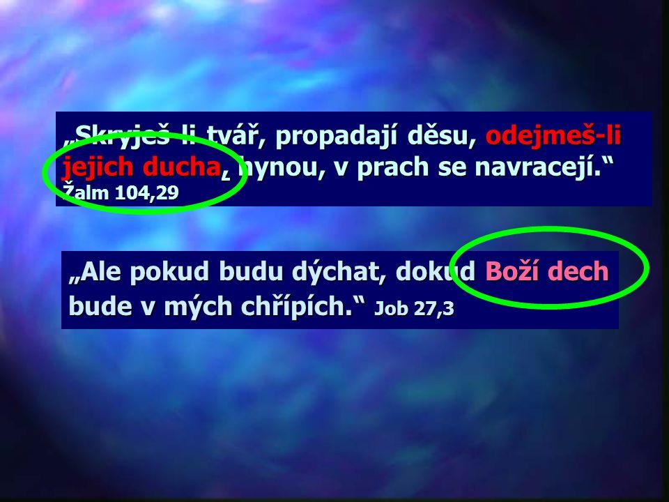 Co je duch? V běžné mluvě mají následující slova stejný význam: DUŠE = DUCH Pro Bibli mají následující slova stejný význam: DUCH = DECH