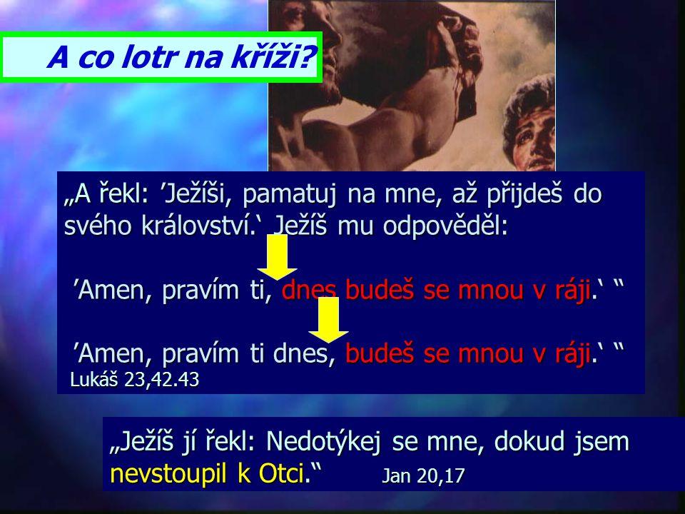 """""""Hle, přijdu brzo, a má odplata se mnou; odplatím každému podle toho, jak jednal."""" Zjevení 22,12 Odplata je ne po smrti, ale po 2.příchodu Ježíše. ale"""