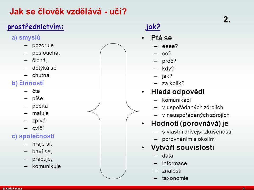 © Radek Maca4 Jak se člověk vzdělává - učí.