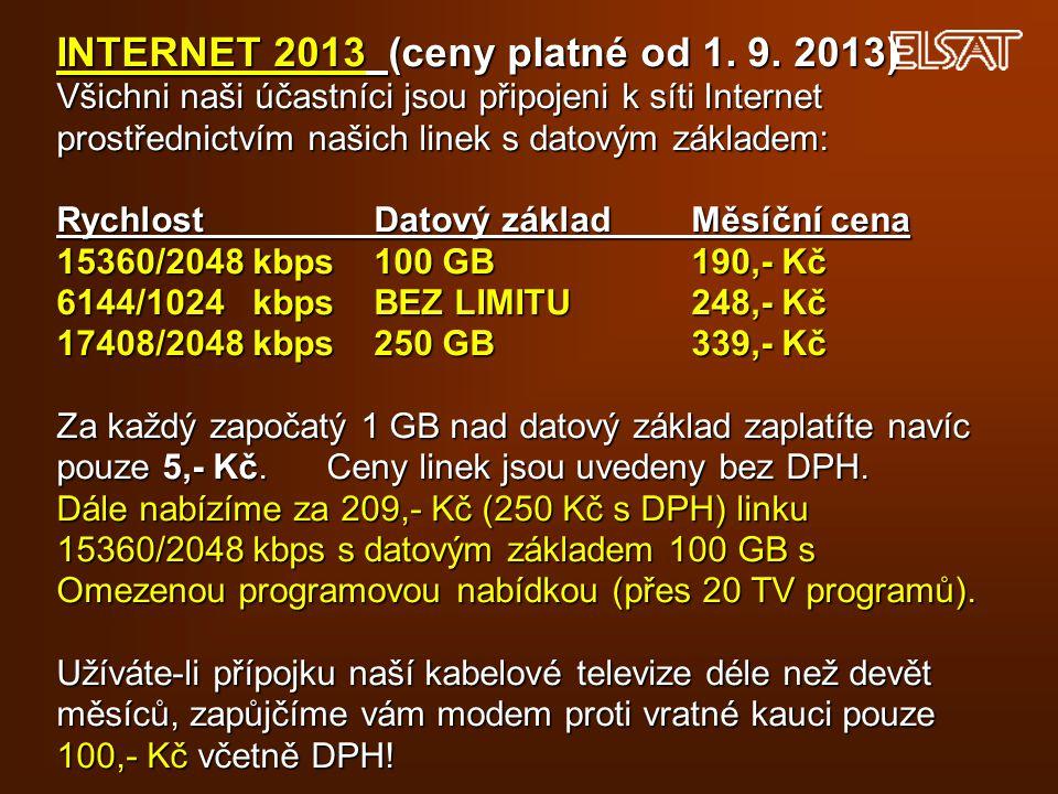 INTERNET 2013 (ceny platné od 1.9.