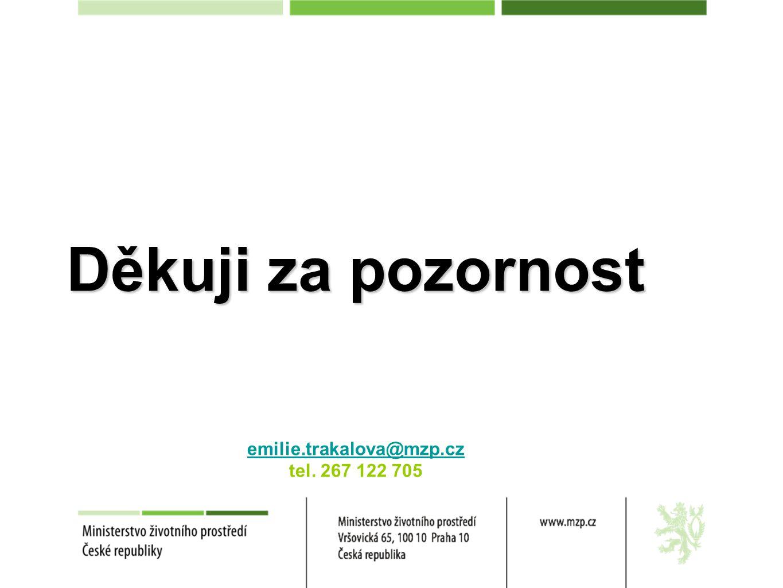 Děkuji za pozornost emilie.trakalova@mzp.cz tel. 267 122 705