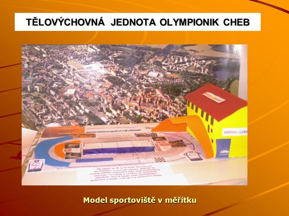 TĚLOVÝCHOVNÁ JEDNOTA OLYMPIONIK CHEB Model sportoviště v měřítku