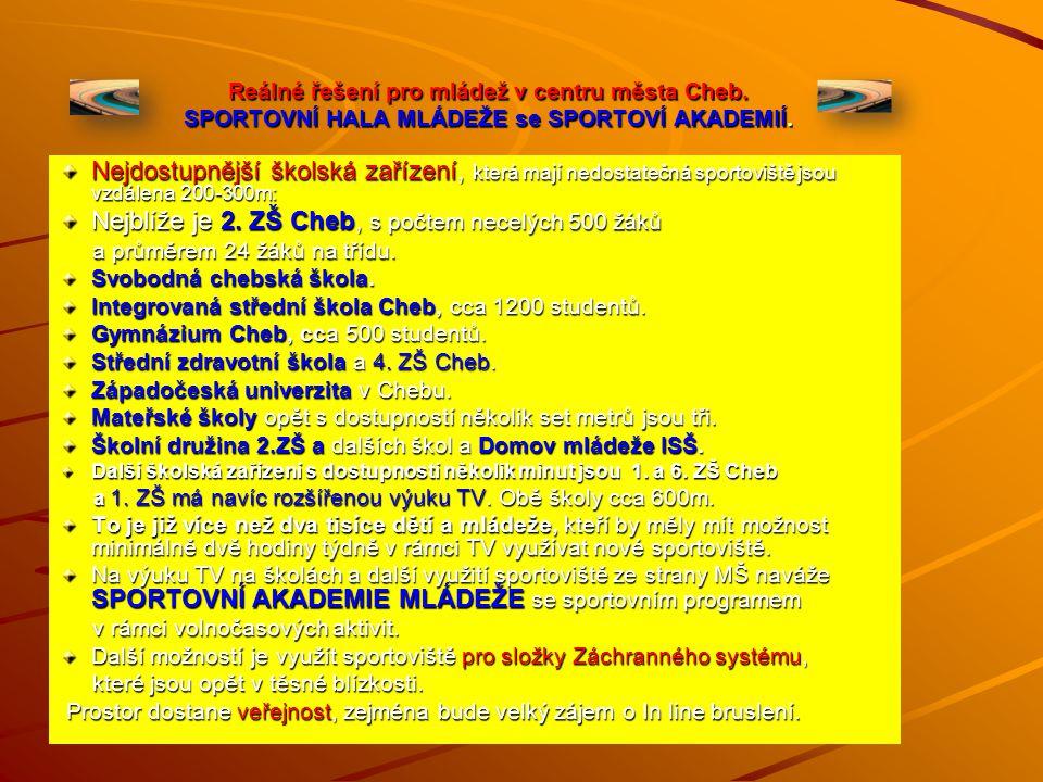 SPORTOVIŠTĚ V CHEBU V Chebu jsou tato dostupná sportoviště (orientační přehled). Fotbal –TJ Lokomotiva a FC Cheb (TJ Agro), Hokej, Kraso – Zimní stadi