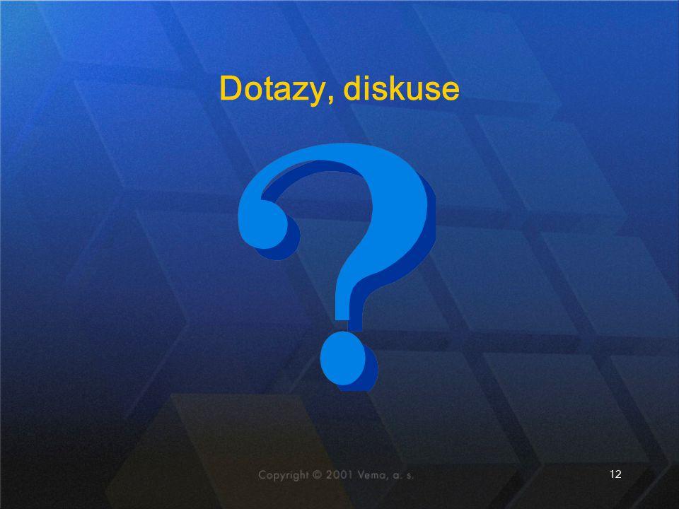 12 Dotazy, diskuse