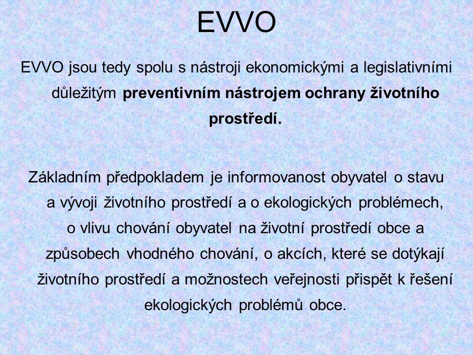 EVVO EVVO jsou tedy spolu s nástroji ekonomickými a legislativními důležitým preventivním nástrojem ochrany životního prostředí.
