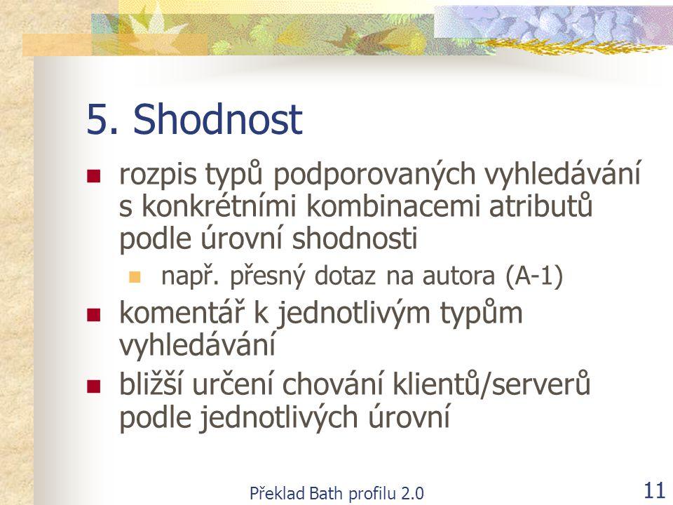Překlad Bath profilu 2.0 11 5.