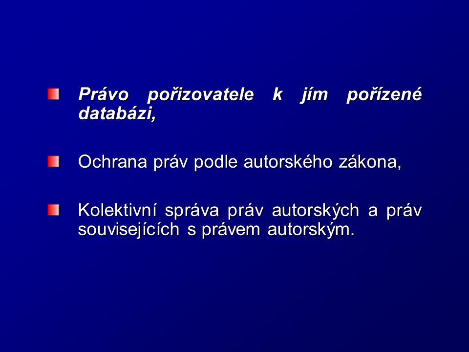 Právo pořizovatele k jím pořízené databázi, Ochrana práv podle autorského zákona, Kolektivní správa práv autorských a práv souvisejících s právem auto