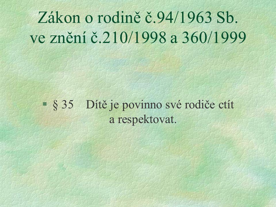 Zákon o rodině č.94/1963 Sb.