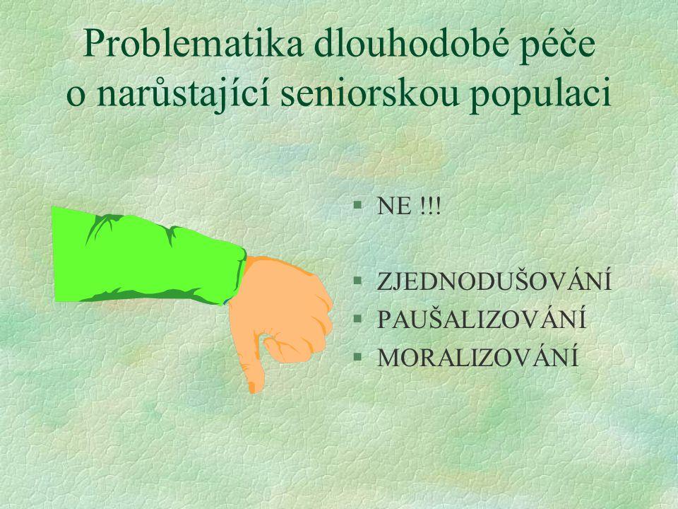 Problematika dlouhodobé péče o narůstající seniorskou populaci §NE !!.