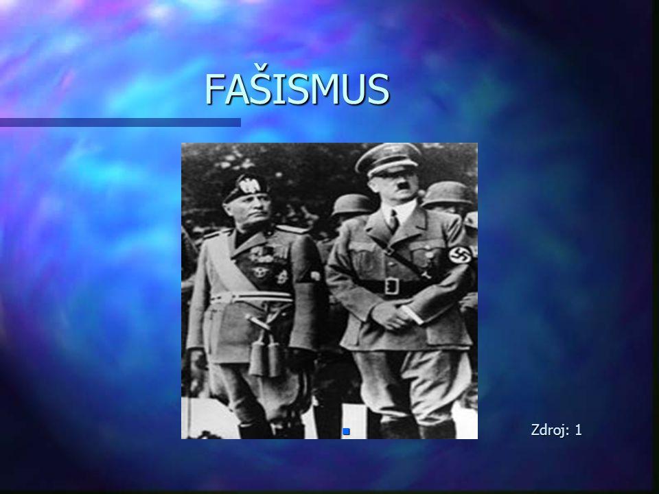 PŮVOD POJMU n pochází z latinského slova fascis, které se překládá jako svazek jilmových prutů svázané červenou páskou s vyčnívající vetknutou sekyrou n původně znak úředníků římského impéria n zdroj: 2