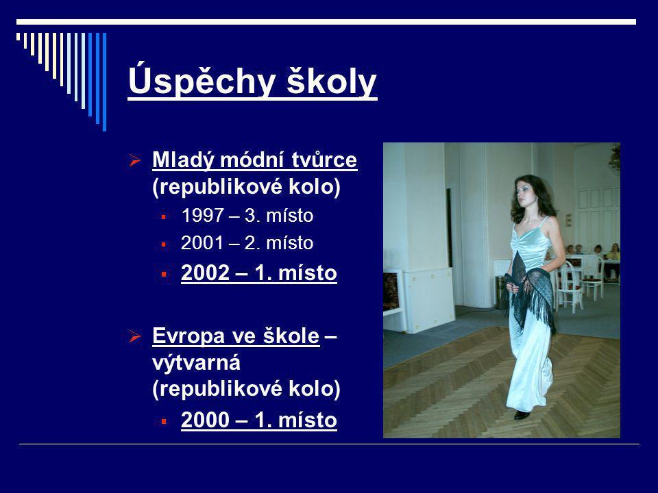 Úspěchy školy  Mladý módní tvůrce (republikové kolo)  1997 – 3.