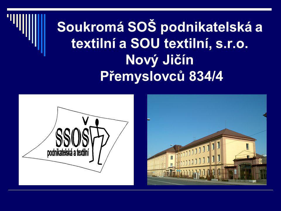 Soukromá SOŠ podnikatelská a textilní a SOU textilní, s.r.o. Nový Jičín Přemyslovců 834/4