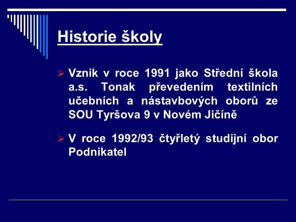 Historie školy  Vznik v roce 1991 jako Střední škola a.s.