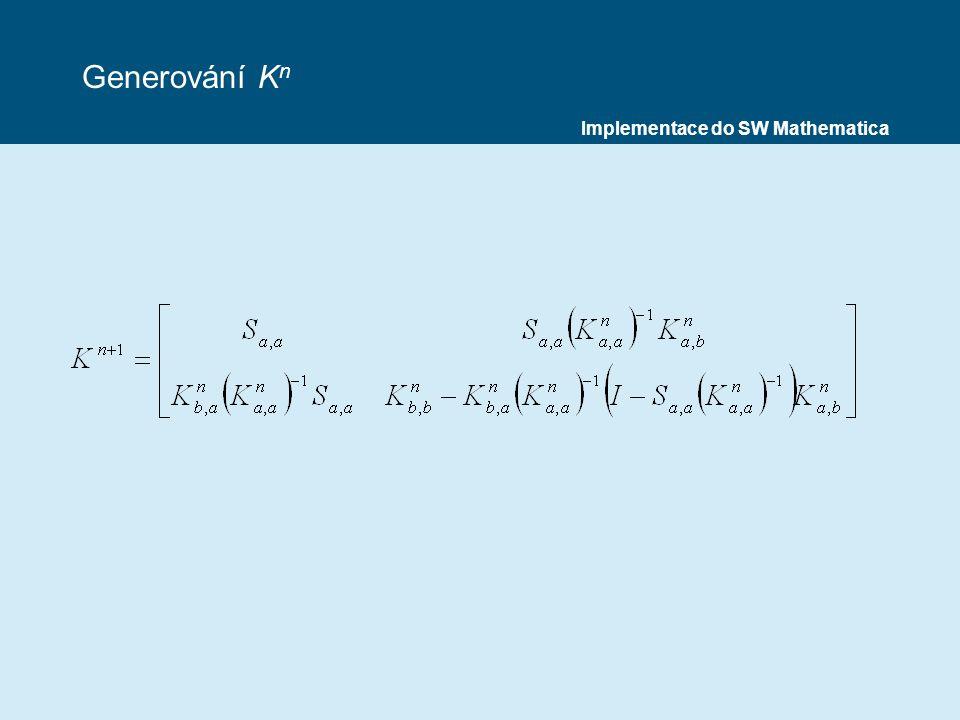 Generování K n Implementace do SW Mathematica