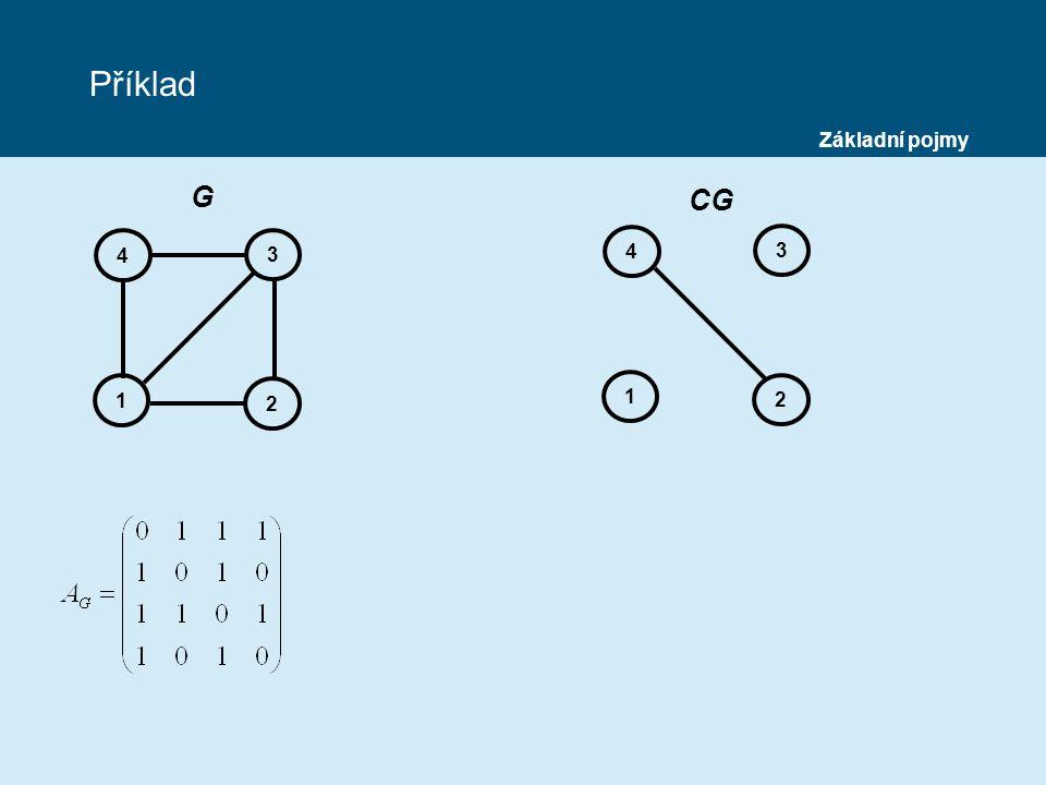Příklad 4 1 2 3 4 1 2 3 G CG Základní pojmy