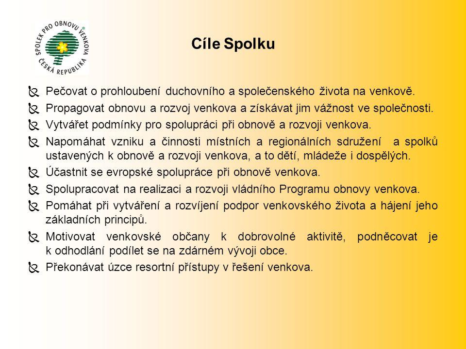 Cíle Spolku  Pečovat o prohloubení duchovního a společenského života na venkově.