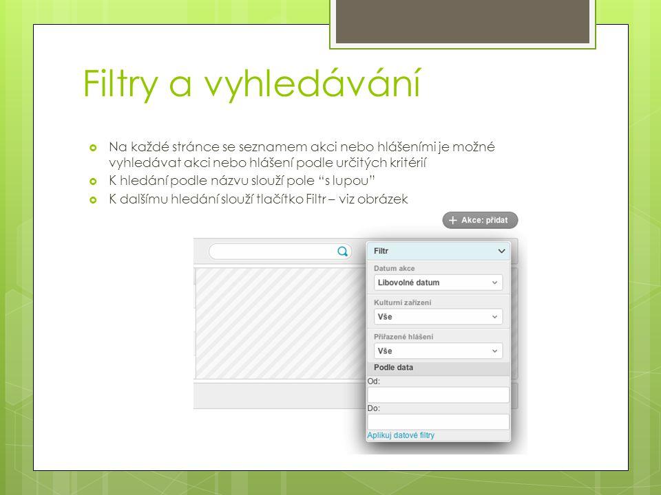 Hlášení (seznam) – po kliku na hlášení v hlavním menu 1.Kliknutím na datum v prvním sloupci můžete editovat 2.Kliknutím na + Hlaseni: pridat můžete vytvořit nové hlášení(viz další slide) 3.Nascannované playlisty k celému hlášení lze stáhnout v.zip, hlášení v PDF lze stáhnout kliknutím na PDF ikonu