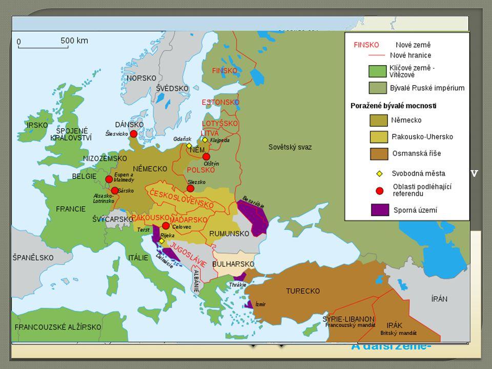 První sv ě tová válka, ozna č ováná i jako Velká válka, probíhala v letech 1914 – 1918.