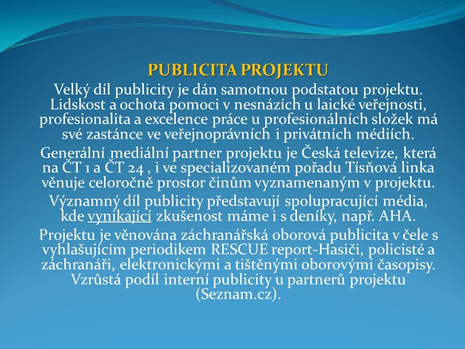 PUBLICITA PROJEKTU Velký díl publicity je dán samotnou podstatou projektu.