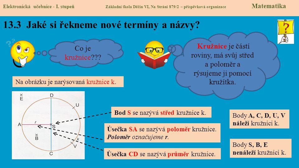 13.4 Jaké si řekneme nové termíny a názvy.Elektronická učebnice - I.