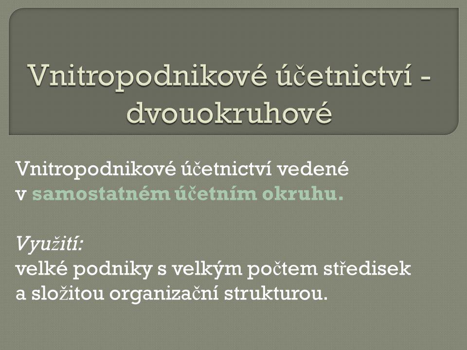1) Štohl, P.Učebnice účetnictví pro střední školy a veřejnost III.