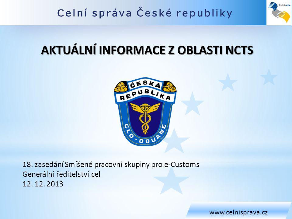 OBSAH www.celnisprava.cz 1.Výsledek analýzy režimu tranzitu z pohledu ZJP 2.Verze NCTS 2013Q4 3.Dotazy deklarantské veřejnosti
