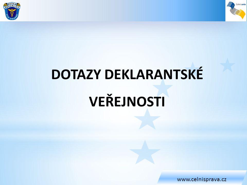 www.celnisprava.cz • Dotaz: Můžete blíže specifikovat dopady nových kompetencí celní správy při kontrole mezinárodních přepravních povolení u silniční přepravy u zahraničních přepravních společností a to jak pro deklaranty – přímé zástupce, tak i do zjednodušených postupů v e-vývozu, popřípadě tranzitu?