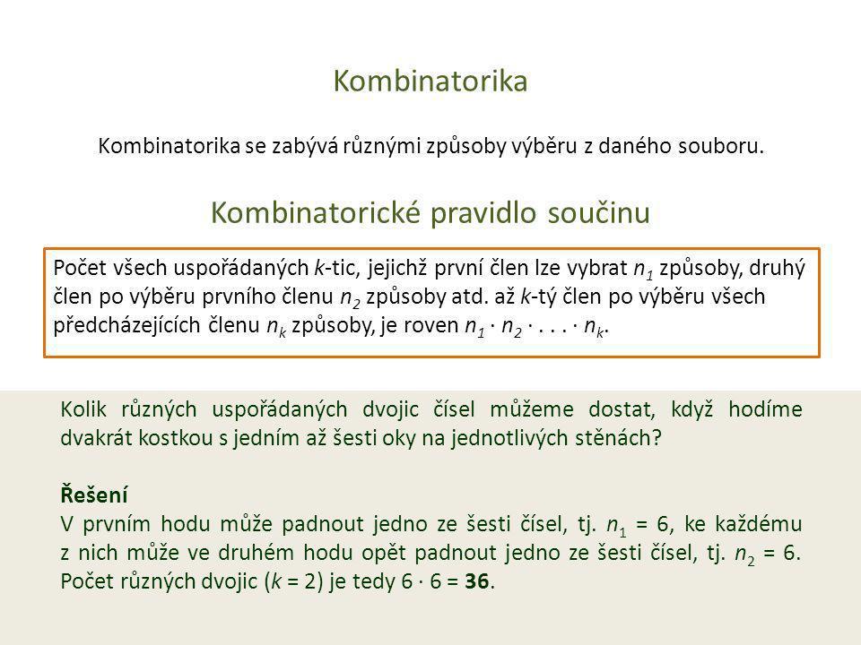 Kombinatorika Permutace bez opakování Nechť A je množina o n prvcích.