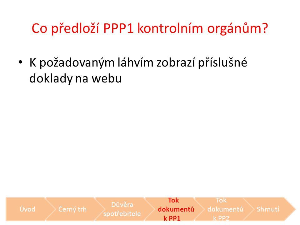 Co předloží PPP1 kontrolním orgánům? • K požadovaným láhvím zobrazí příslušné doklady na webu Shrnutí Tok dokumentů k PP2 Tok dokumentů k PP1 Důvěra s