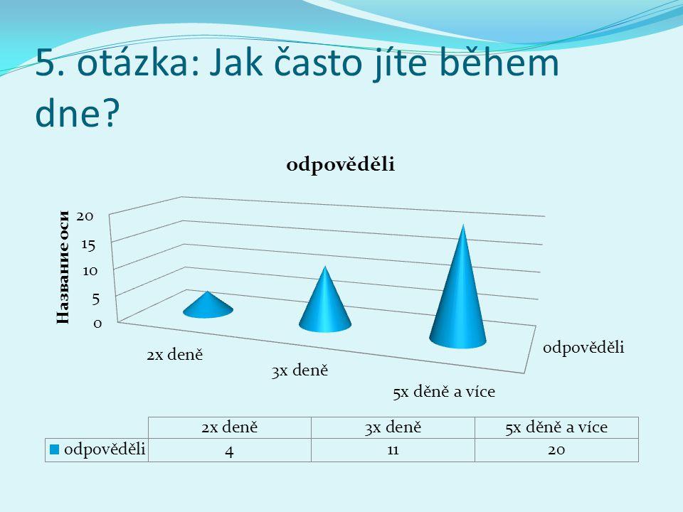5. otázka: Jak často jíte během dne?
