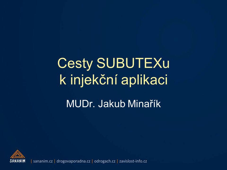 Cesty SUBUTEXu k injekční aplikaci MUDr. Jakub Minařík