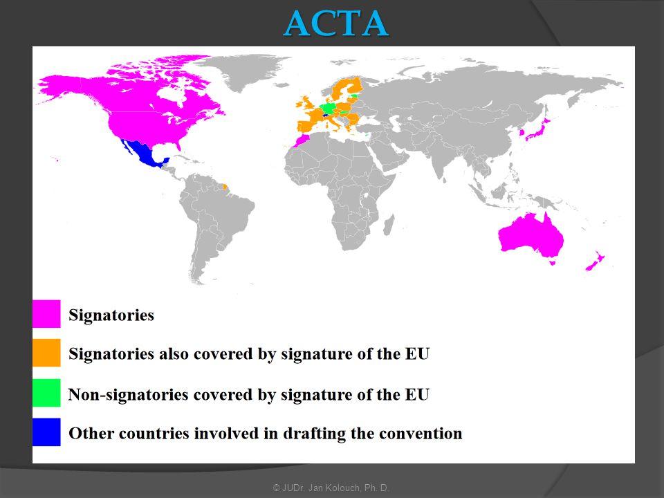 ACTA Anti-Counterfeiting Trade Agreement Obchodní dohoda proti padělatelství Znění:  http://trade.ec.europa.eu/doclib/docs/2011/may/tradoc_147937.pdf