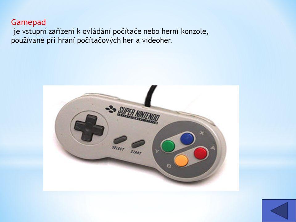 Gamepad je vstupní zařízení k ovládání počítače nebo herní konzole, používané při hraní počítačových her a videoher.