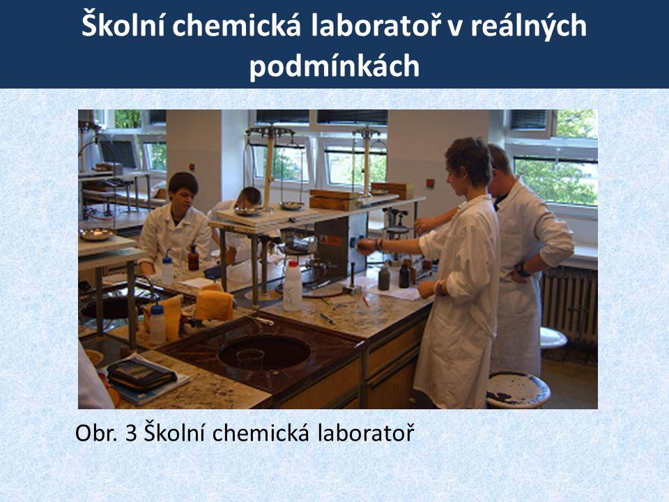 Školní chemická laboratoř v reálných podmínkách Obr. 3 Školní chemická laboratoř