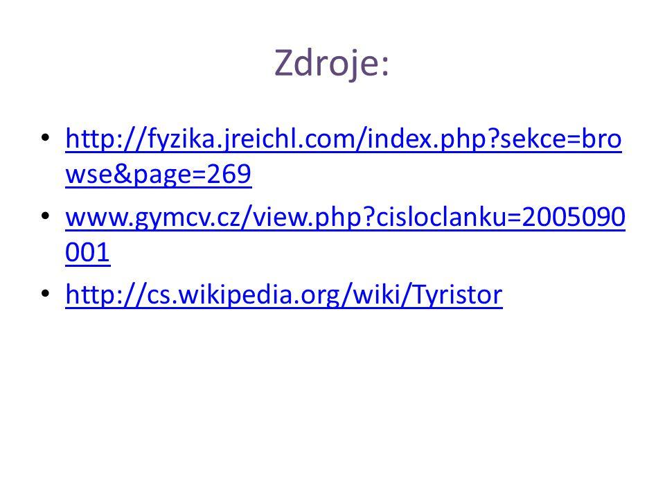 Zdroje: • http://fyzika.jreichl.com/index.php?sekce=bro wse&page=269 http://fyzika.jreichl.com/index.php?sekce=bro wse&page=269 • www.gymcv.cz/view.ph