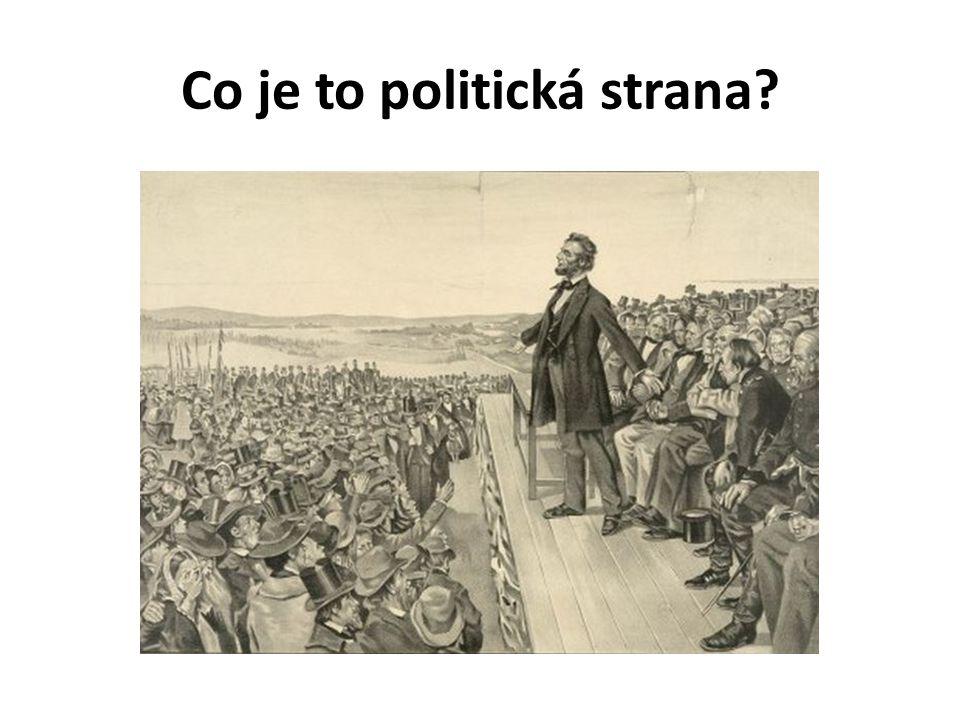 Co je to politická strana?