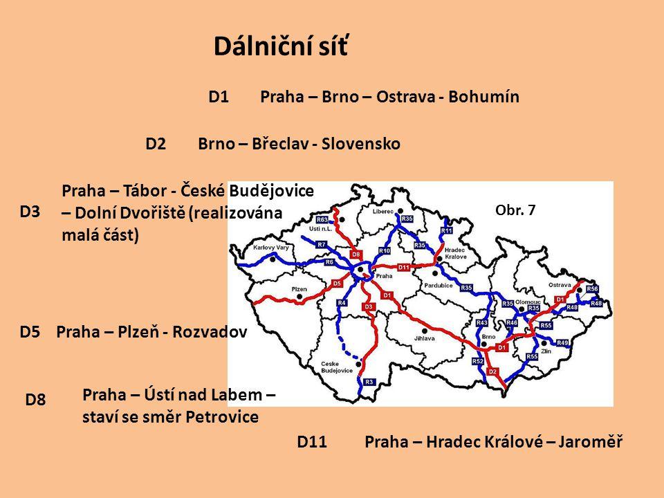 D1 D11 D8 D5 D3 D2 Praha – Brno – Ostrava - Bohumín Praha – Plzeň - Rozvadov Praha – Ústí nad Labem – staví se směr Petrovice Praha – Hradec Králové –
