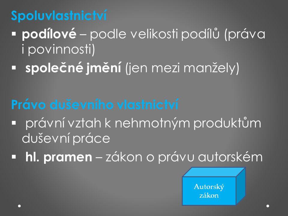 Zdroje: o RYSKA, Radovan; PUŠKINOVÁ, Monika.Právo pro střední školy.