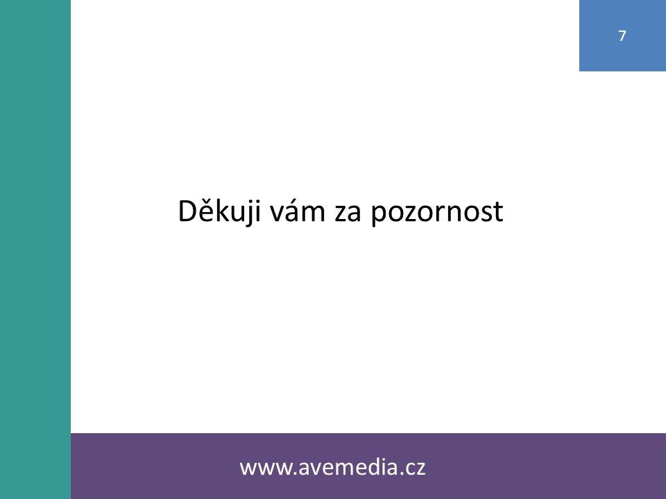 www.avemedia.cz 7 Děkuji vám za pozornost